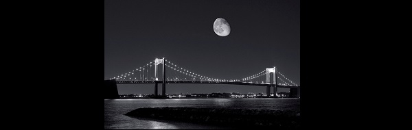 Throgs Neck Bridge at night